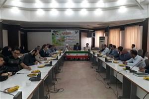 برگزاری مراسم افتتاحیه اردوی جهادی کمیته سلامت واحد گرگان در شهر آق قلا