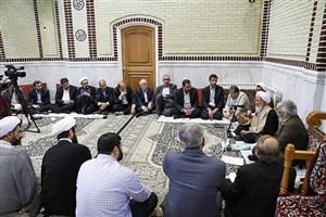 دیدار رئیس و اعضای هیئت رئیسه دانشگاه آزاد اسلامی با آیتالله جوادی آملی