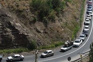 ترافیک سنگین در ورودی های تهران/تردد در جاده های شمالی روان است