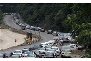 ترافیک سنگین در جاده های مازندران/بازگشت ترافیک پایان هفته  به جاده های شمالی