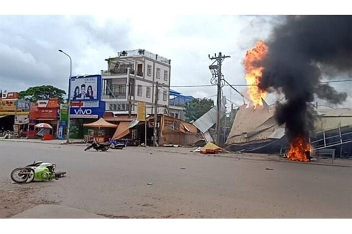انفجار تانکر بنزین  در کامبوج