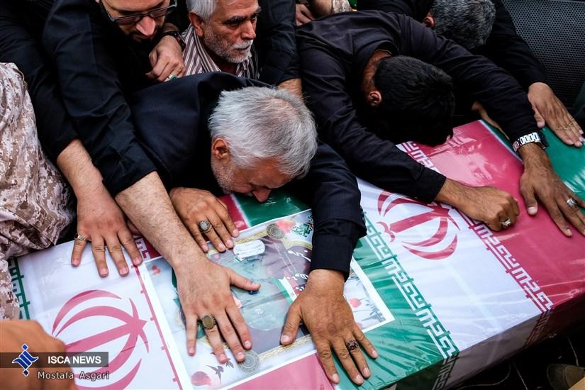 تشییع شهید خلبان «مجید فتحی نژاد»