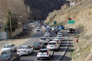 ترافیک  نیمه سنگین  در جاده چالوس و هراز