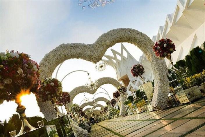 تجملات در عروسی از محضر لوکس تا آبشار شکلات