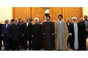 رئیس جمهور و اعضای دولت با آرمانهای امام خمینی (ره) تجدید میثاق کردند