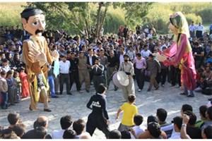 کارناوال شادی عروسکها/چهاردهمین جشنواره تئاتر خیابانی مریوان کلید خورد