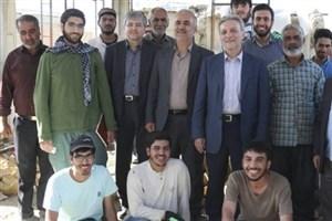 رئیس دانشگاه تهران از اردوی جهادی دانشجویان در خراسان شمالی بازدید کرد