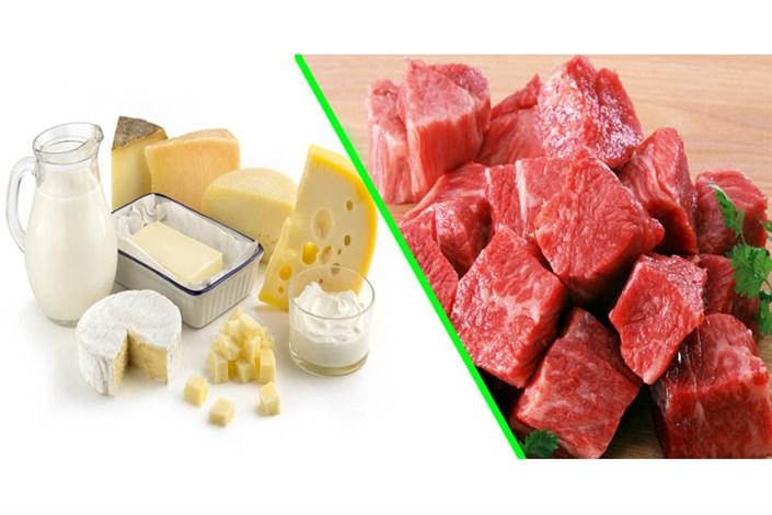 صادرات گوشت و لبنیات در سال گذشته