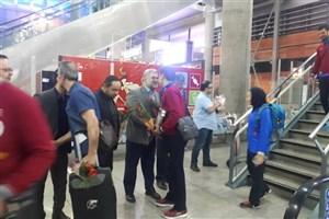 برگزاری مراسم استقبال از تیم تکواندوی دانشگاه آزاد اسلامی در فرودگاه امام خمینی