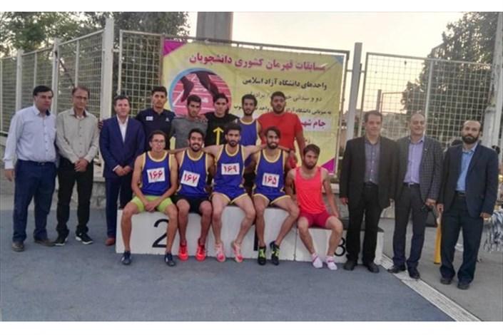 واحد تهران جنوب قهرمان رقابتهای دوومیدانی دانشجویان دانشگاه آزاد کشور شد