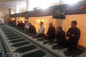 مراسم عزاداری دانشگاهیان واحد شاهرود در مسجد النبی (ص) برگزار شد