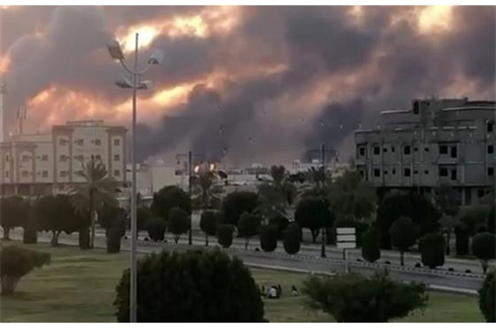 آتش سوزی در پالایشگاه عربستان