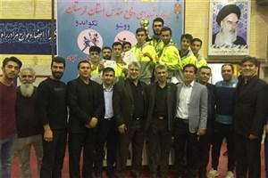 تیم تکواندوی پسران دانشگاه آزاد اسلامی استان البرز در مسابقات کشوری قهرمان شد