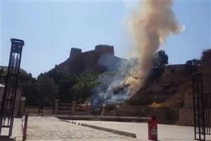 آخرین جزئیات درباره آتش سوزی در حریم قلعه فلک الافلاک/ علت آتش سوزی فیلتر سیگار