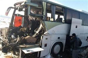 تصادف مرگبار کامیون با اتوبوس/7 نفر کشته و 7 نفرمصدوم شدند