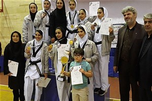 قهرمانی دختران تکواندوکار دانشگاه آزاد اسلامی البرز در المپیاد رزمی کشور