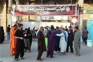 استقرار موکب «مع امامٍ منصور» جمکران در عمود ۱۰۷۰/ میزبانی از زائران غیرایرانی