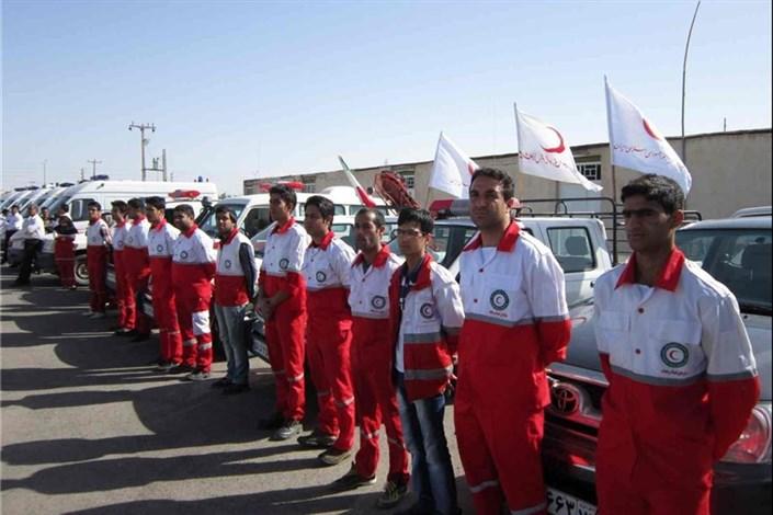 آماده باش پایگاه های امداد و نجات هلال احمر برای اربعین