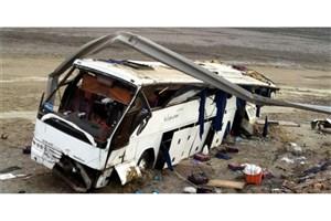 واژگونی مینی بوس حامل دانش آموزان/18  دانش آموز مصدوم شدند