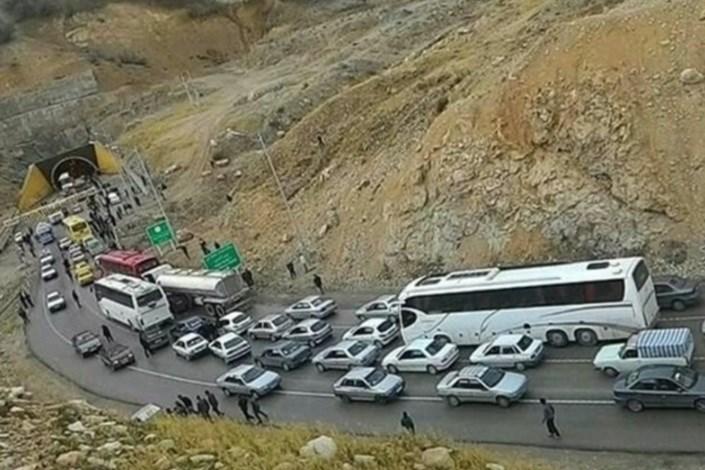 ترافیک در جاده مهران