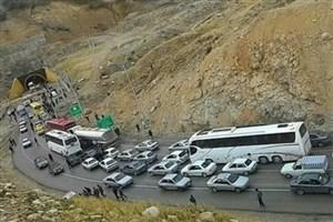 ترافیک در جاده های منتهی به مهران و  محورخرمشهر به شلمچه