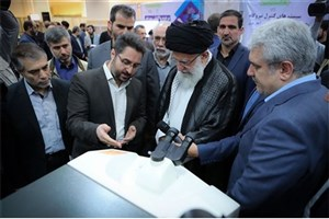 Ayatollah Khamenei Visits Exhibition of Knowledge-based Enterprises & Advanced Technologies