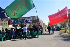 آیین بدرقه کاروان اربعین حسینی در دانشگاه آزاد اسلامی خوی برگزار شد