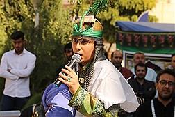 برگزاری مراسم تعزیه خوانی و بدرقه کاروان دانشگاهیان واحد تهرانغرب