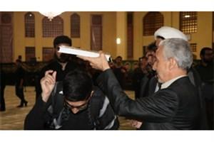 حضور وزیر علوم در مراسم  کاروان دانشجویان اربعین حسینی دانشگاه بوعلیسینا