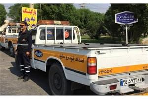 استقرار گروههای امداد خودرو در گذرگاههای مرزی خوزستان