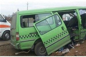 """تصادف  2 خودروی """"ون"""" در العماره عراق /جان باختن  زن 18 ساله و مصدومیت 6 نفر"""