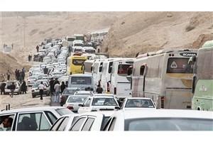 ترافیک در جاده های منتهی به کربلا/ بارش باران در جاده های 6  استان