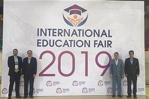 حضور دانشگاه آزاد اسلامی به عنوان تنها نماینده ایران در نمایشگاه بینالمللی آموزش ۲۰۱۹ قزاقستان