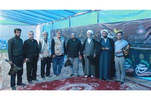 حضور رئیس بسیج اساتید دانشگاه آزاد اسلامی در مرزهای شلمچه و چذابه