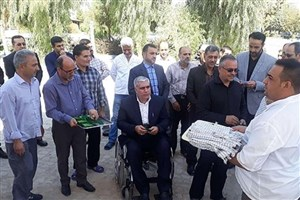 آیین بدرقه زائران اربعین در دانشگاه آزاد اسلامی ورامین ـ پیشوا برگزار شد