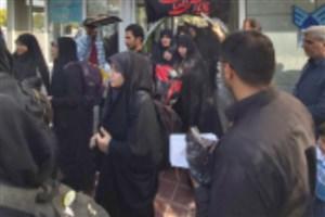 بدرقه دانشجویان زائر پیادهروی اربعین در دانشکده سمای اراک