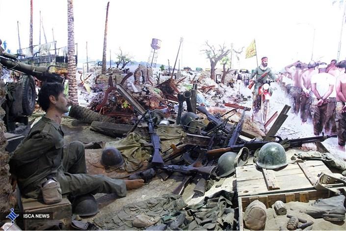 آیین افتتاح تالار پیروزی در باغ موزه دفاع مقدس