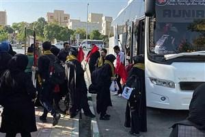 آیین بدرقه دانشجویان زائر اربعین حسینی در سما دانشگاه آزاد اسلامی اراک برگزار شد