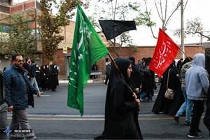 پیادهروی جاماندگان اربعین در تهران/ همنوایی مردم پایتخت با زوار اربعین در روز شنبه