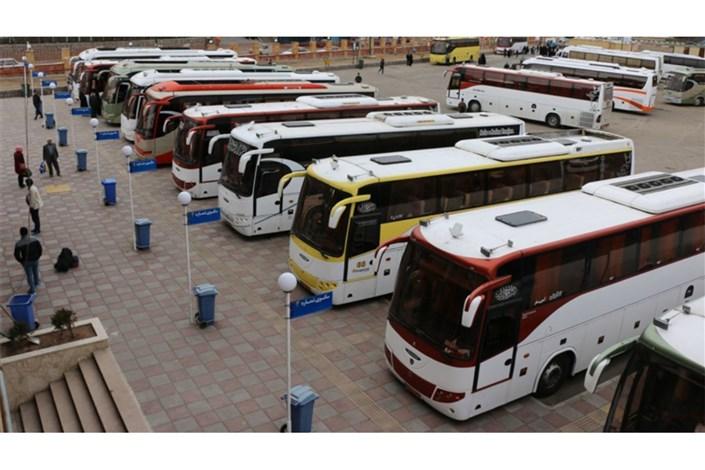 همه ناوگان اتوبوس  کشوری در خدمت  زائران اربعین