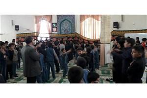 برپایی مراسم اربعین حسینی با حضور دانشآموزان سمای تویسرکان