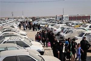 نارضایتی زانران اربعین  از وضعیت پارکینگ چذابه/ خودرو  یاوسایل خودروها به سرقت رفته اند