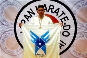 کسب 3 مدال توسط دانشجوی دانشگاه آزاد بیضا در مسابقات بینالمللی کاراته