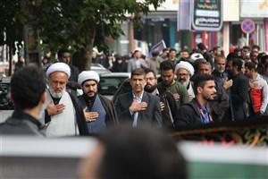 سوگواری کارکنان، استادان و دانشجویان دانشگاه آزاد اسلامی واحد کرج