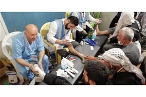 ارائه خدمات پزشکی و درمانی به زائران پیاده امام رضا (ع)