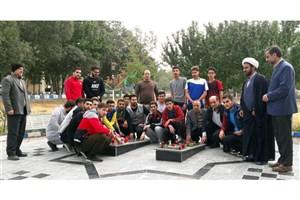 برگزاری مراسم تجدید میثاق دانشجویان ورزشکار با آرمانهای شهدا در واحد تویسرکان