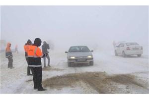 بارش برف در دیزین/ آمادگی کامل پلیس راه با توجه به شرایط جوی