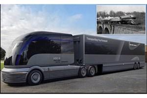 رونمایی از طرح اولیه کامیونی که با هیدروژن حرکت می کند