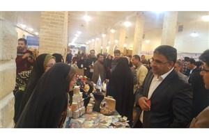 نمایشگاه توانمندیهای دانشجویان دختر در واحد زنجان برگزار شد