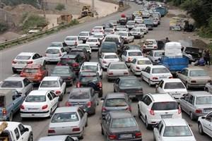 ترافیک سنگین در محور تهران - جاجرود
